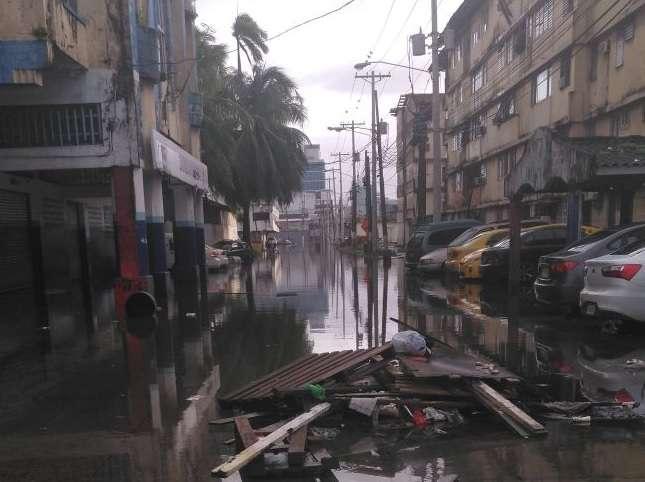 Varios sectores de la provincia afectados. Foto: Diomedes Sánchez