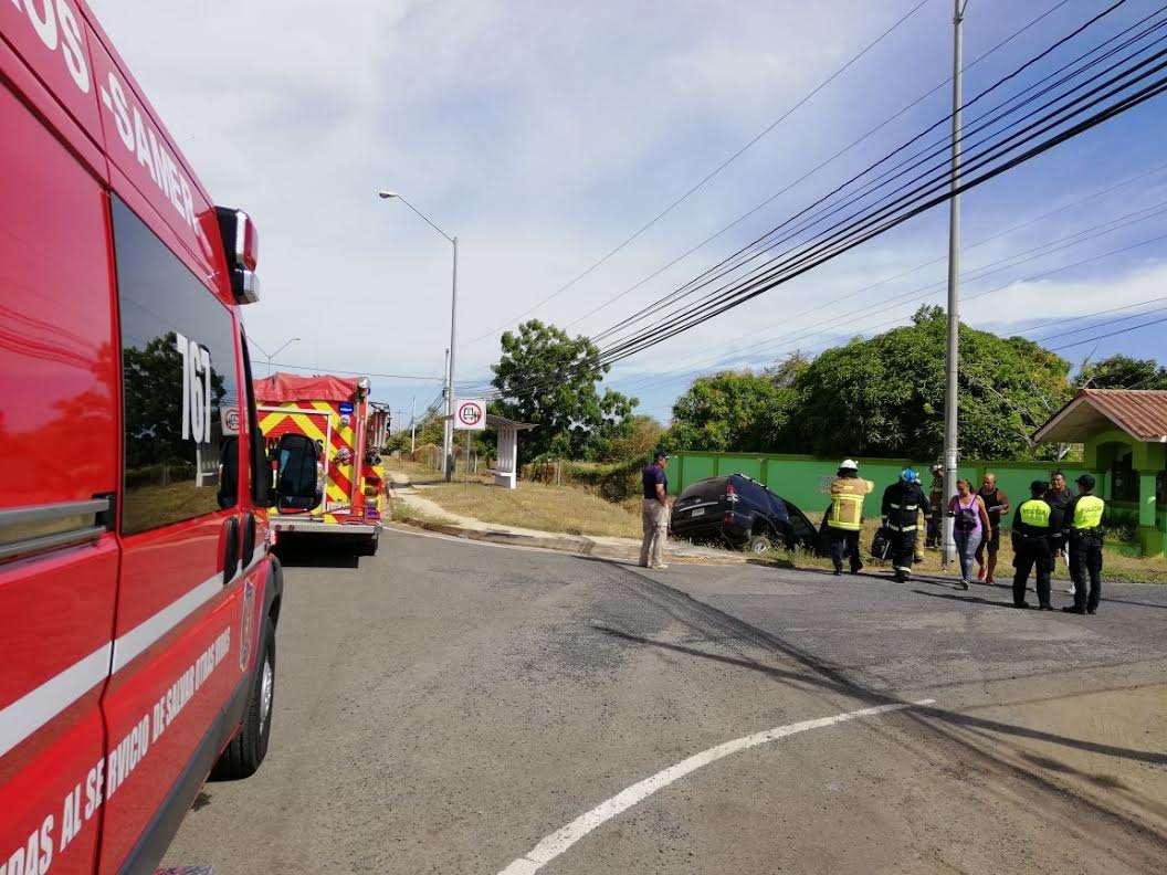 Accidente en Los Santos. Foto: Zenaida Vásquez