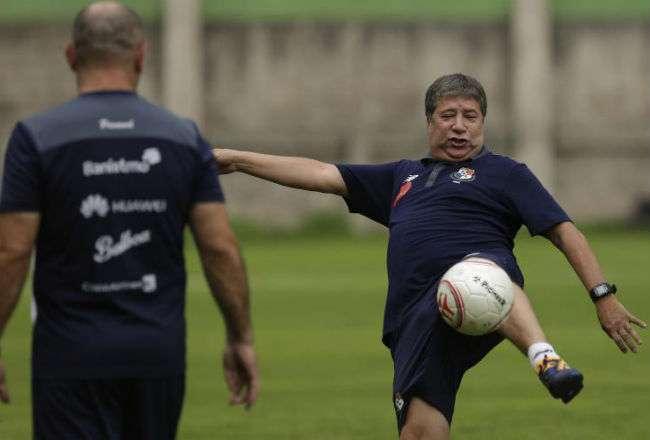 Hernán Darío Gómez, técnico de la selección nacional. AP