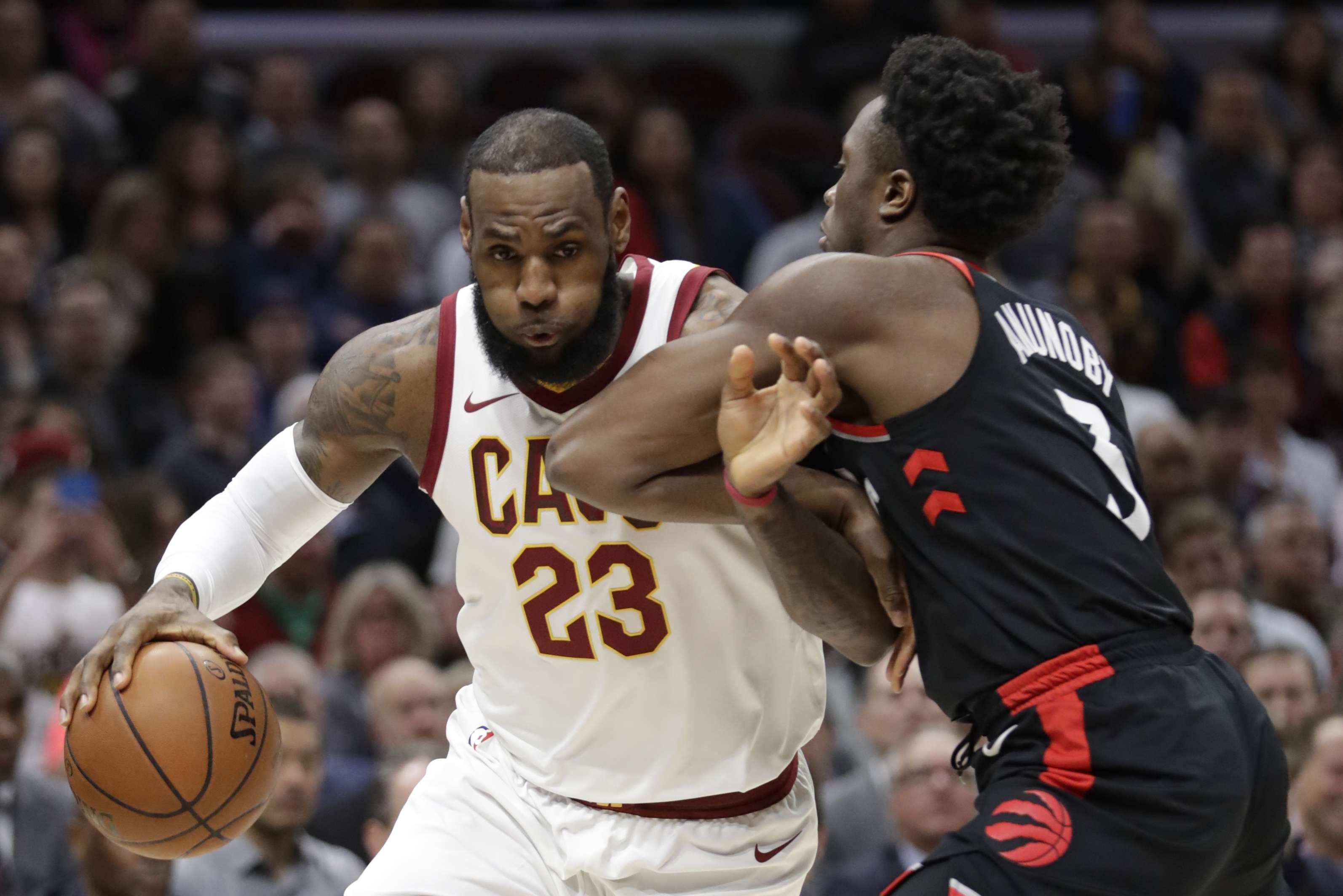 LeBron James, jugador de los Cavaliers de Cleveland. Foto: AP