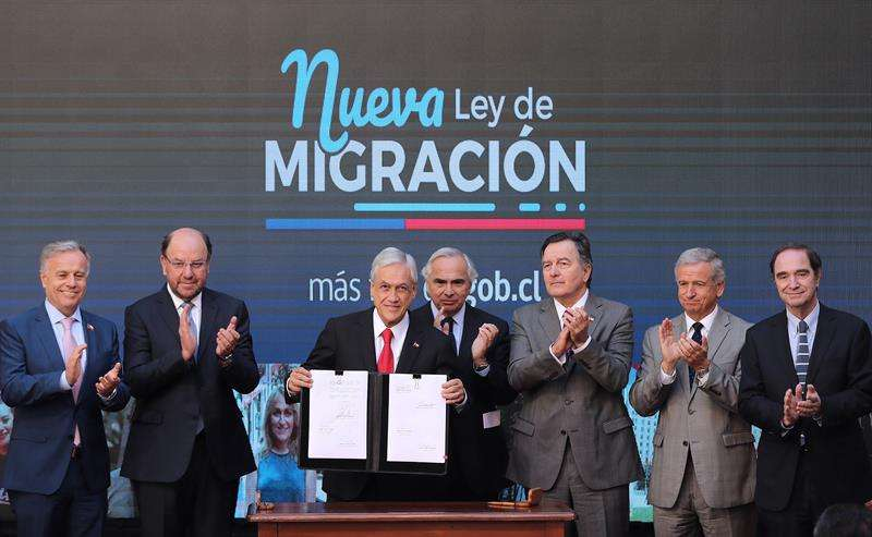 Presentación de la propuesta de reforma a la Ley de Migraciones. Foto/EFE