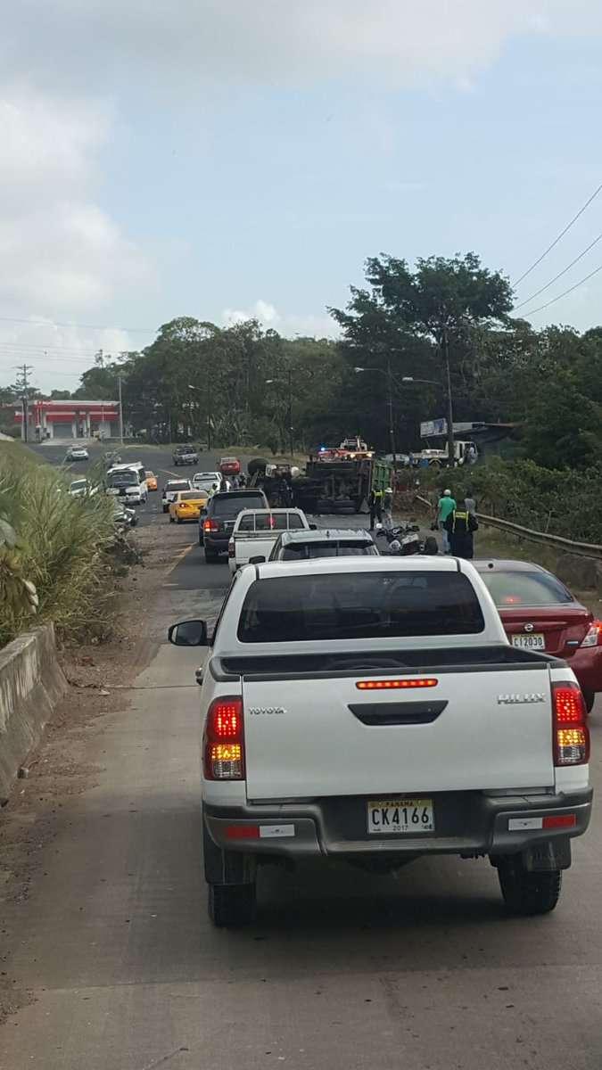 Accidente en Colón. Foto/@TraficoCPanama