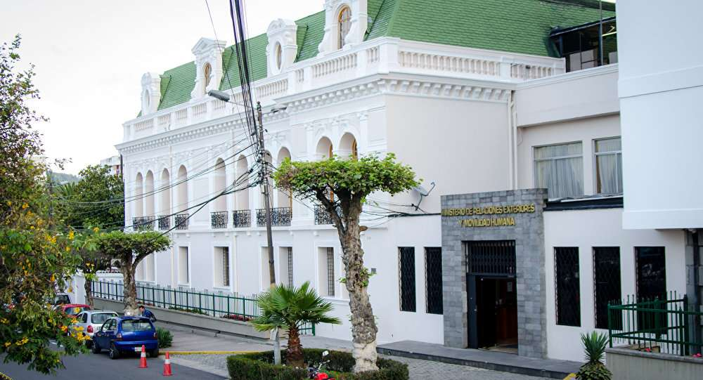 Imagen de la Cancillería de Ecuador. Foto/Redes