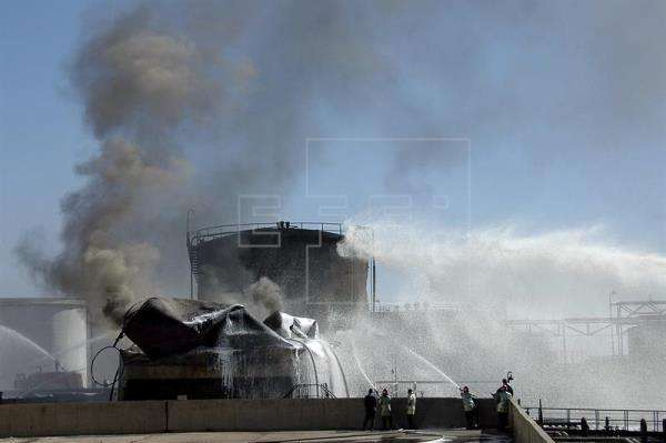 Base militar de Siria bombardeada. Foto/EFE