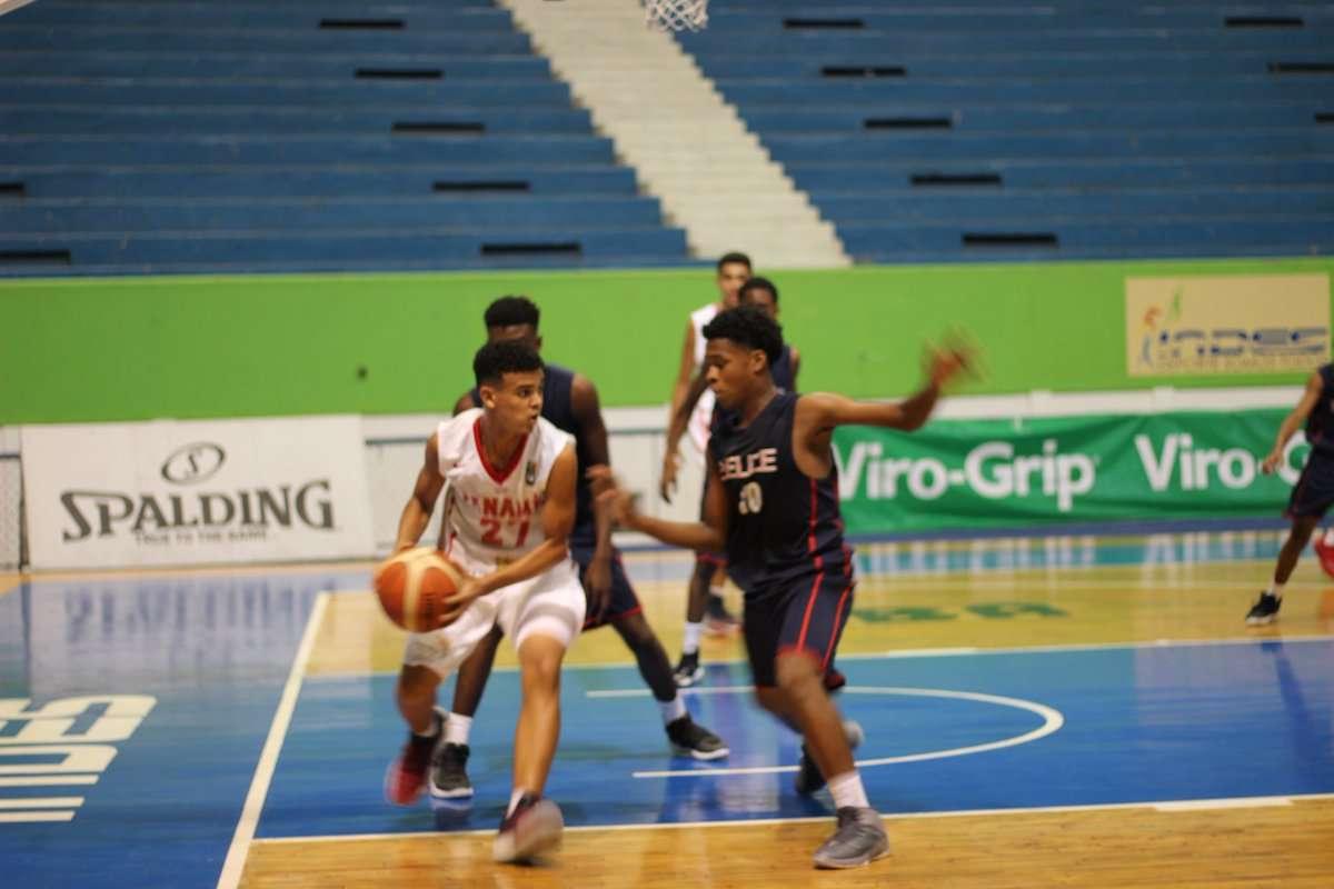 Panamá venció 97-69 a Belice en la categoría masculina. Foto: Fepaba