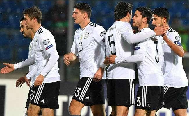 Jugadores de la selección de Alemania.