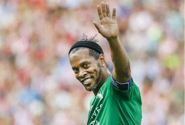 El exjugador Ronaldinho. Foto:EFE