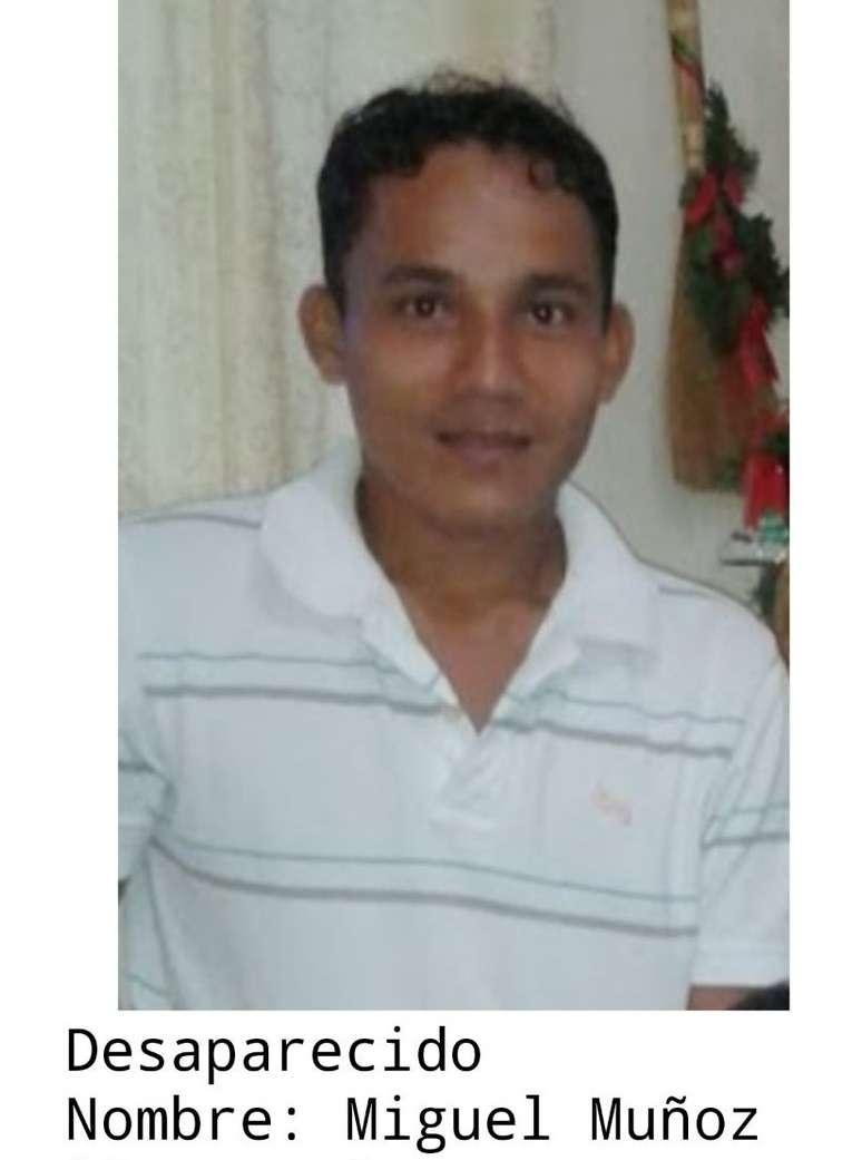 Imagen publicada en redes para ubicar a Miguel Muñoz