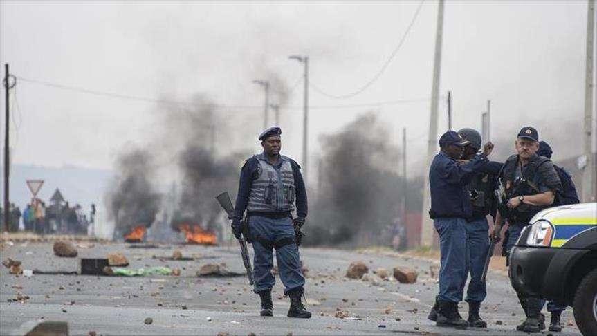 imágenes de las protestas en Sudáfrica. Foto/@gusivision