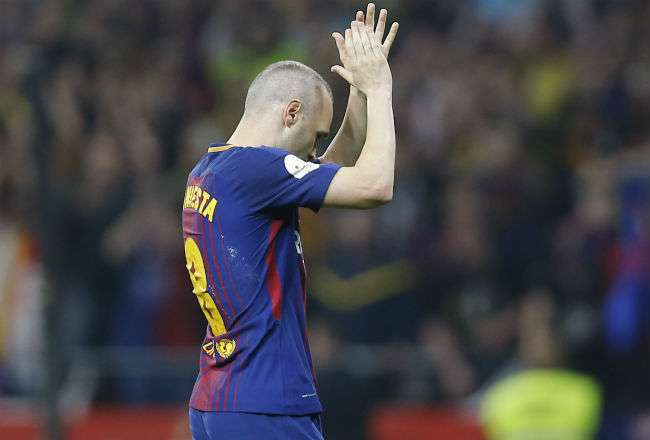 El jugador Andrés Iniesta. Foto: AP