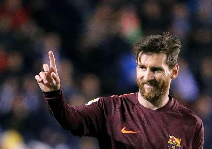 Messi Messi consiguió su primer título de la liga española en la temporada 2004/05. Foto: EFE