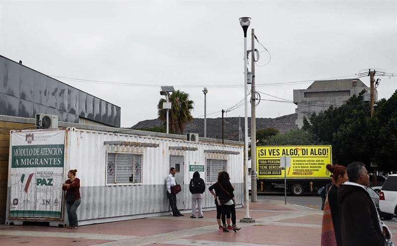 Centro de atención para migrantes en Tijuana México. Foto/EFE