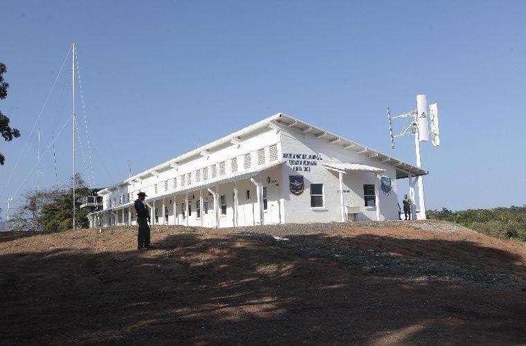 Vista general de parte de las instalaciones penitenciarias en Punta Coco. Foto: Archivo