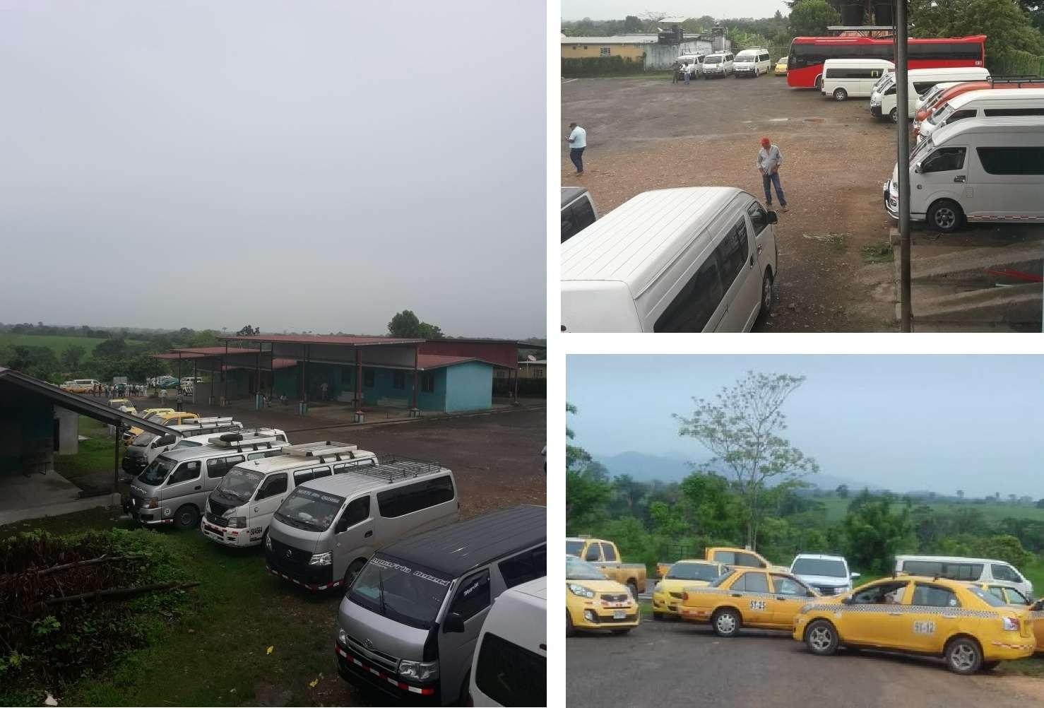 A la acción de protesta se han sumado tanto transportistas de sector colectivo como del selectivo.
