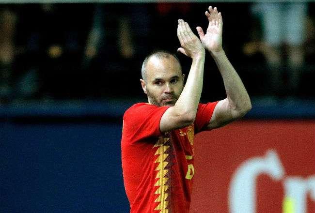 El centrocampista de la selección española de fútbol Andrés Iniesta. Foto: EFE