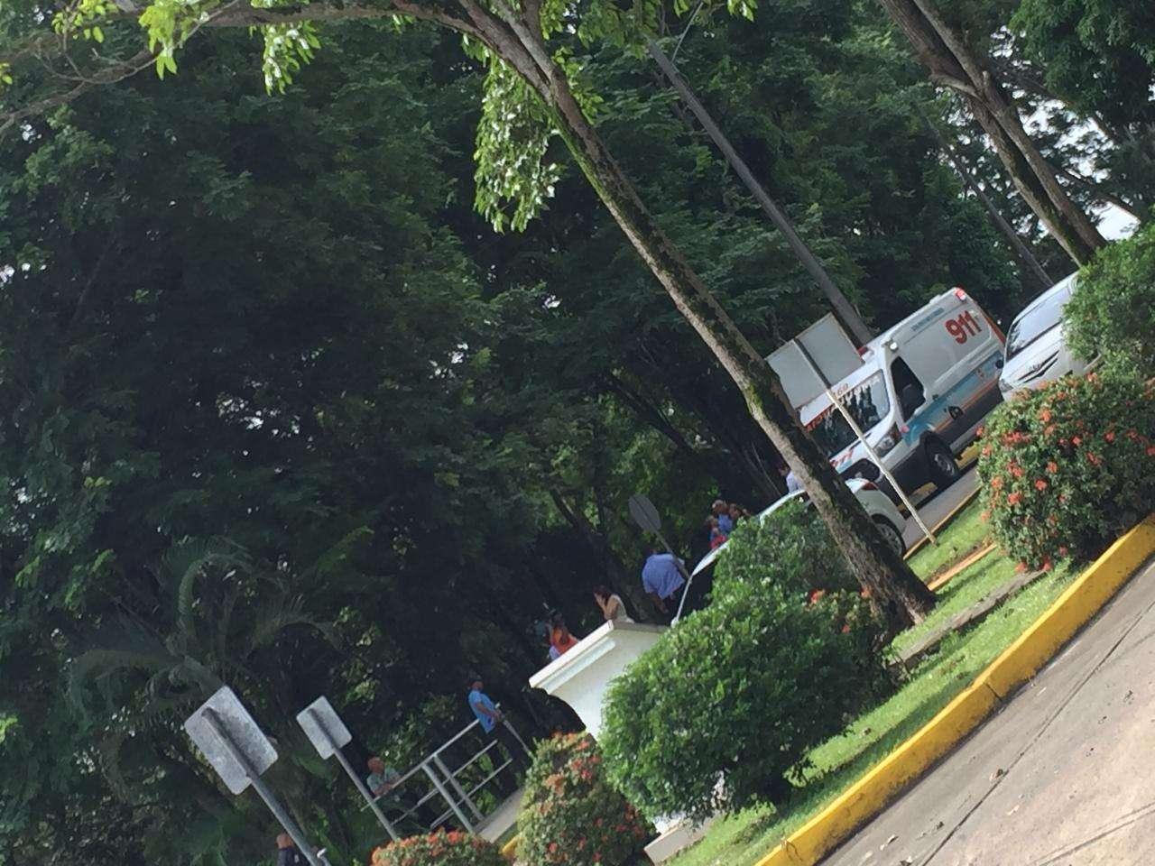 Robo en la Universidad Tecnológica de Panamá. Foto: @TraficoCPanama