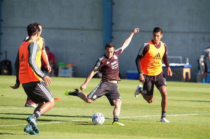 Los mexicanos volverán este jueves a los entrenamientos y el sábado tendrán el amistoso con Dinamarca. Foto EFE