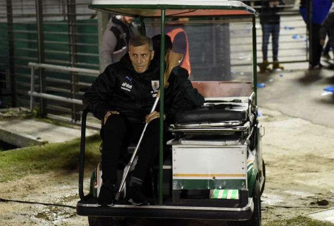 El entrenador Óscar Tabárez. Foto: AP