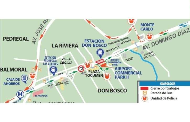 El cierre en la vía Domingo Díaz se realiza para culminar montaje de la pasarela en estación Don Bosco.