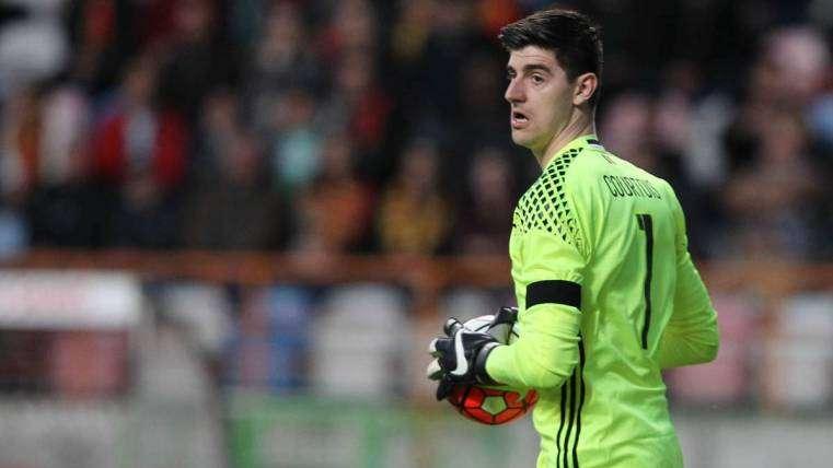 El portero de la selección de Bélgica.