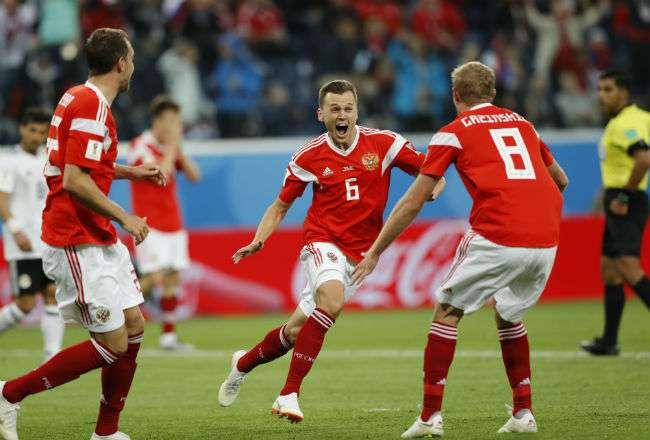 La selección de Rusia fue superior a su rival. Foto: EFE