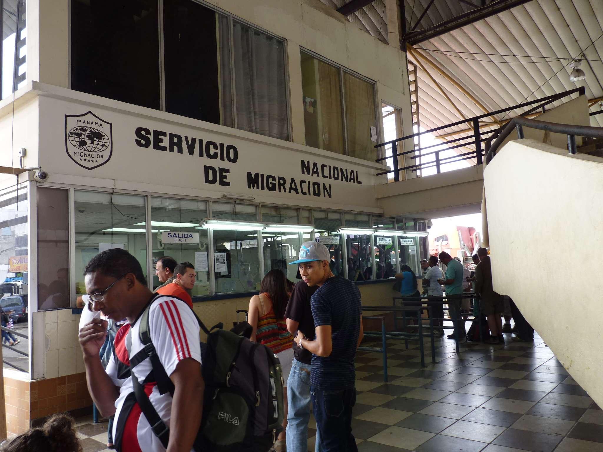 Vista general de la oficina de Migración en Paso Canoas. / Foto: Archivo