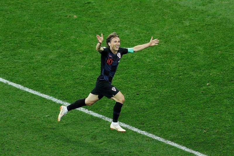 Los goleadores de Croacia fueron de Ante Rebic, Luka Modric e Ivan Rakitic. Foto EFE