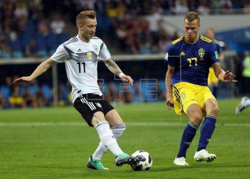 La selección de Alemania le ganó 2-1 a Suecia. Foto: EFE