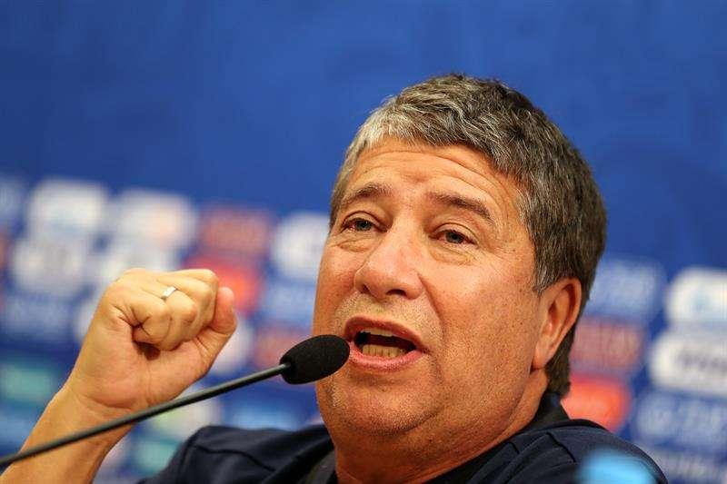 """Hernán Darío """"El Bolillo"""" Gómez alineará ante Inglaterra a los mismos que contra Bélgica. Foto EFE"""