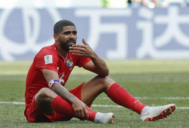 El jugador de la selección de Panamá. Foto:AP
