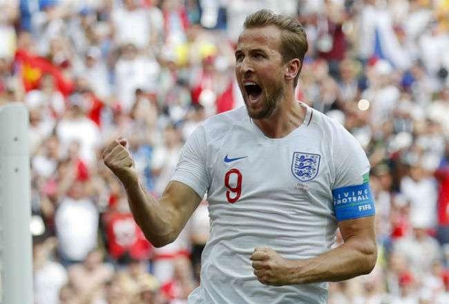 El jugador de Inglaterra Harry Kane. Foto:AP