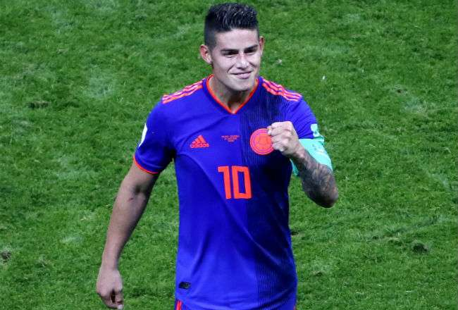 El jugador colombiano James Rodriguez. Foto:EFE