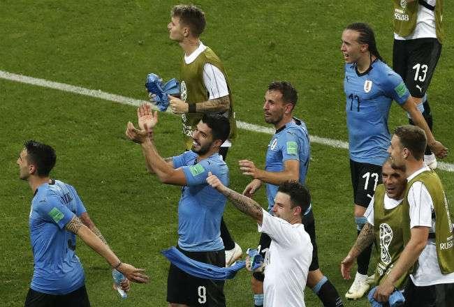 La selección de Uruguay le ganó 2-1 a Portugal. Foto: AP