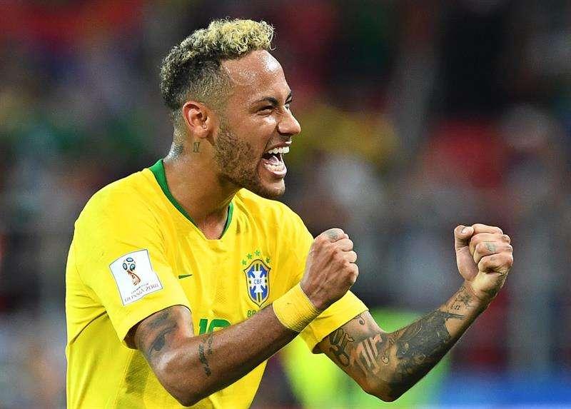 Neymar está listo para jugar ante México. Foto:EFE