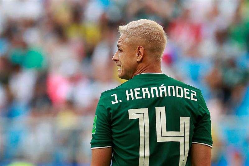 Javier 'Chicharito' Hernández es el máximo goleador de la historia de la selección de México. Foto EFE