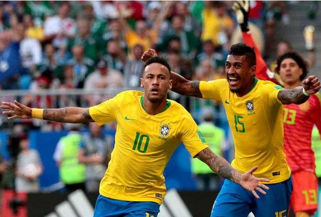 El goleador Neymar anotó al minuto 51. Foto:EFE