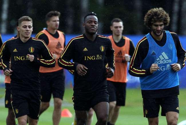 La selección de Bélgica se prepara para los cuartos de final. Foto:EFE