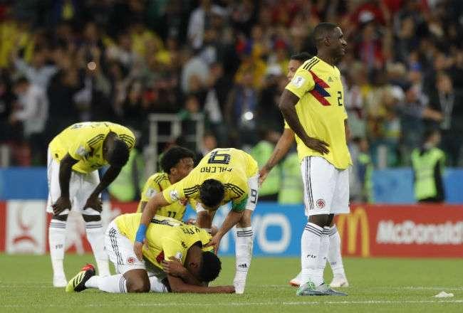 La selección de Colombia quedó eliminado en los octavos de final. Foto: AP