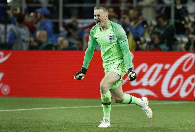 El guadameta de la selección de Inglaterra Jordan Pickford.Foto:AP