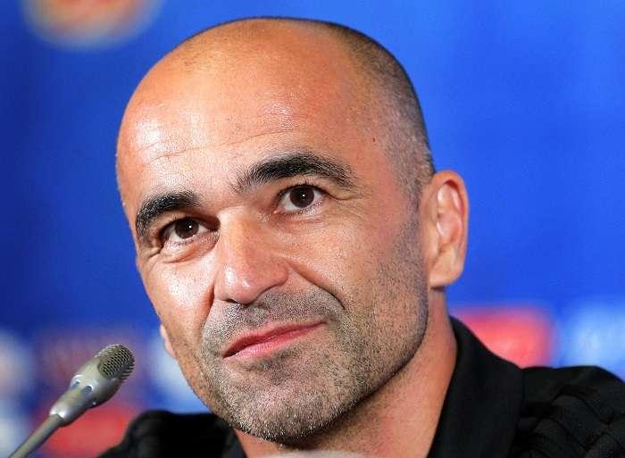 Roberto Martinez seleccionador belga en rueda de prensa./EFE