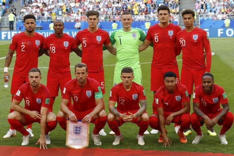 El equipo de Inglaterra fue superior al de Suecia en el juego de hoy. Foto: AP