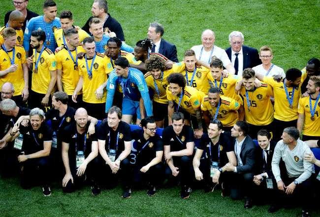 La selección de Bélgica se acreditó el tercer lugar del Mundial. Foto:EFE
