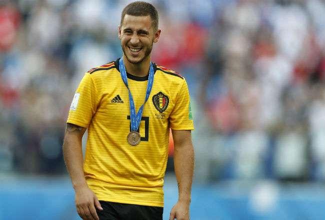 El jugador Eden Hazard. Foto:AP