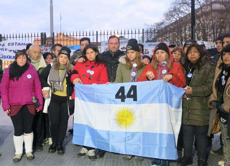 Familiares de los tripulantes desaparecidos el pasado 15 de noviembre con el submarino ARA San Juan. EFEArchivo
