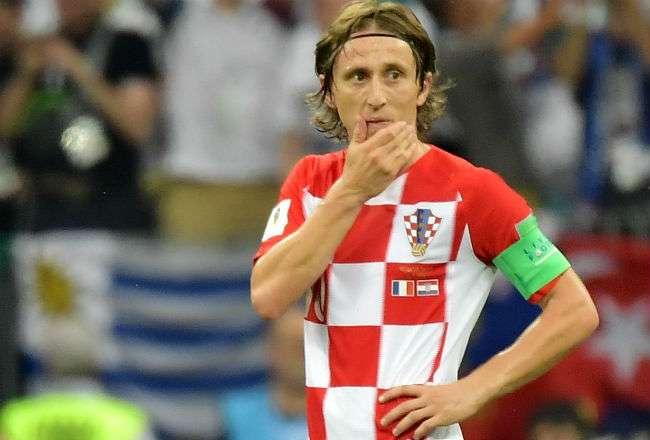 El jugador Luka Modric brilló en el Mundial de Rusia 2018. Foto:EFE