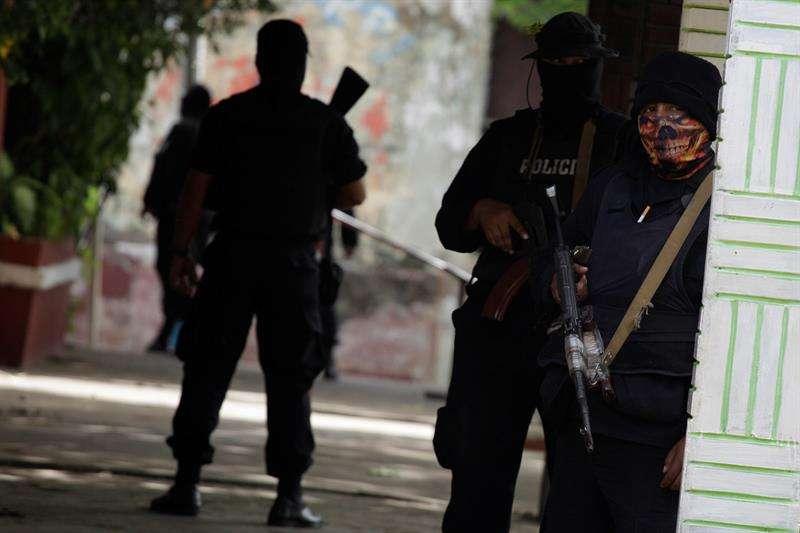 Agentes de la Policía Nacional de Nicaragua. EFE