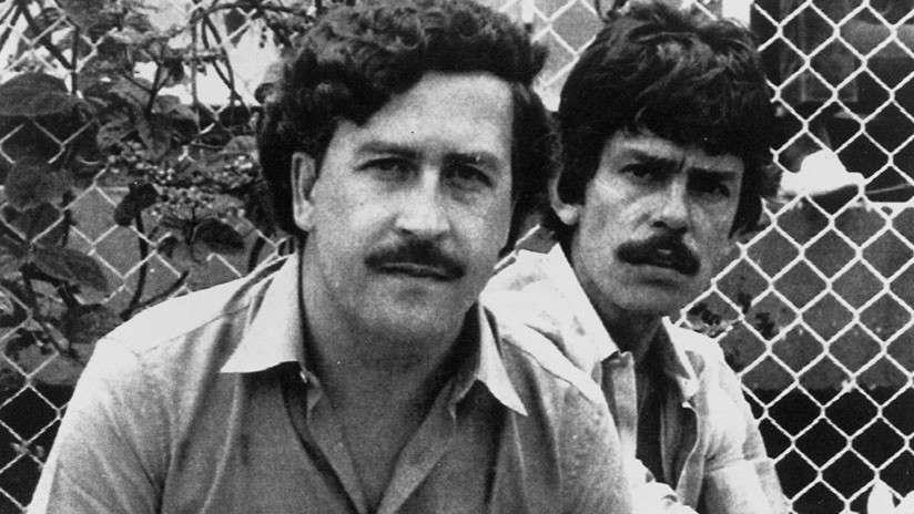 Pablo Escobar y Jorge Roca Suárez en Medellín, Colombia, 1983 AP