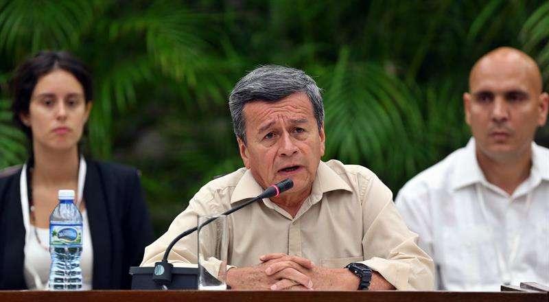 El negociador jefe del Ejército de Liberación Nacional (ELN), Pablo Beltrán. EFEArchivo