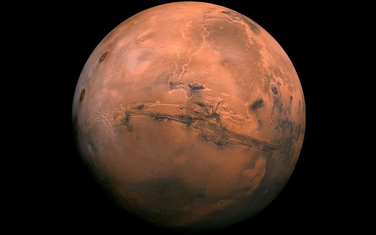 Fotografía sin fechar cedida por el Servicio Geológico de Estados Unidos (USGS), que muestra el planeta Marte. EFE