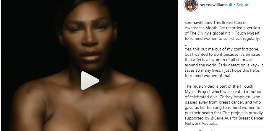 Serena Williams impulsa una causa benéfica./ Instagram